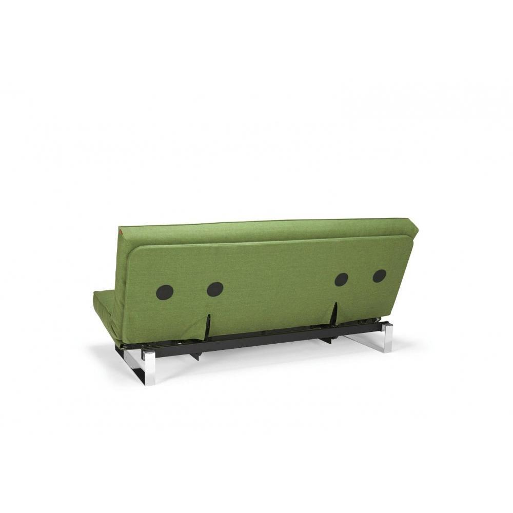 INNOVATION LIVING Clic Clac MINIMUM vert olive  convertible lit 200*140 cm coussins déco inclus