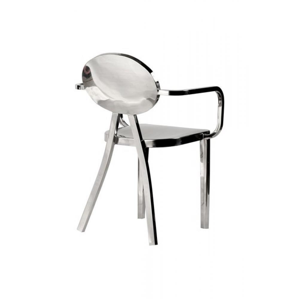 Chaises meubles et rangements fauteuil chaise design for Chaise inox