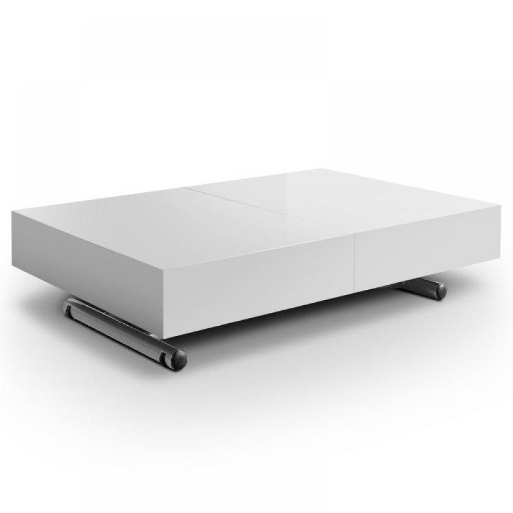 Table relevable extensible ITACA blanche brillante 12 Couverts