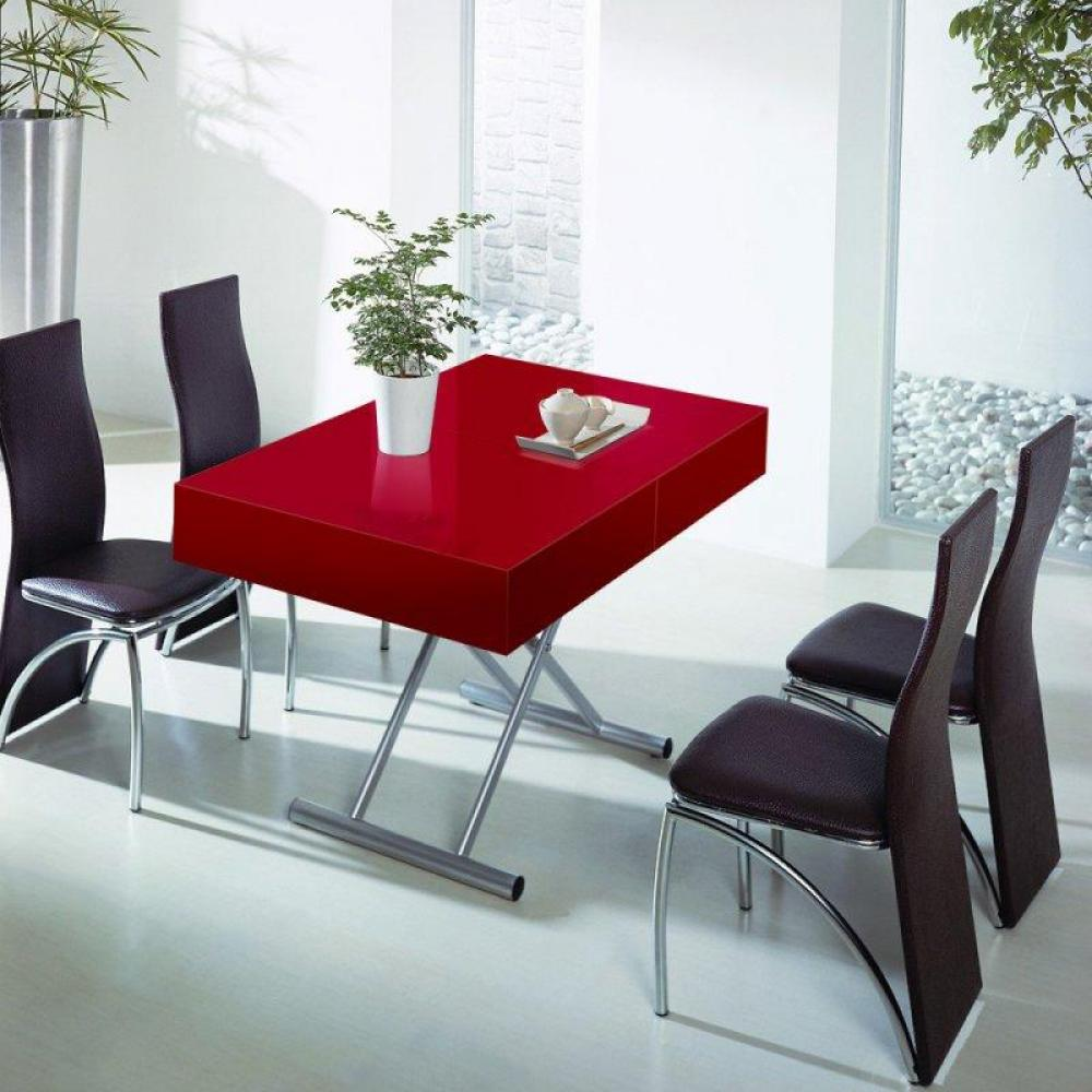 tables relevables meubles et rangements table relevable extensible itaca rouge 12 couverts. Black Bedroom Furniture Sets. Home Design Ideas