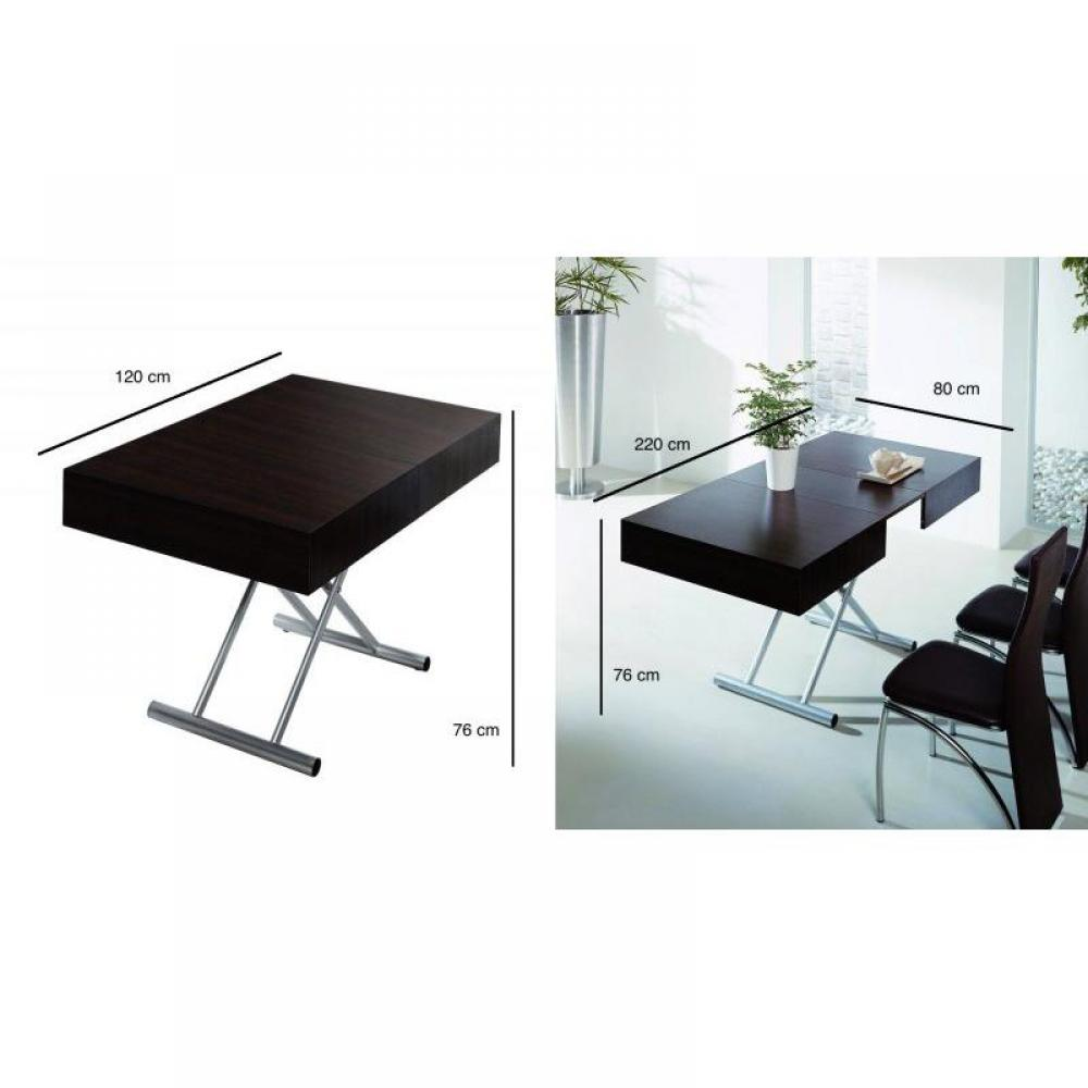 Tables relevables meubles et rangements table relevable extensible itaca weng 12 couverts - Tables relevables extensibles ...