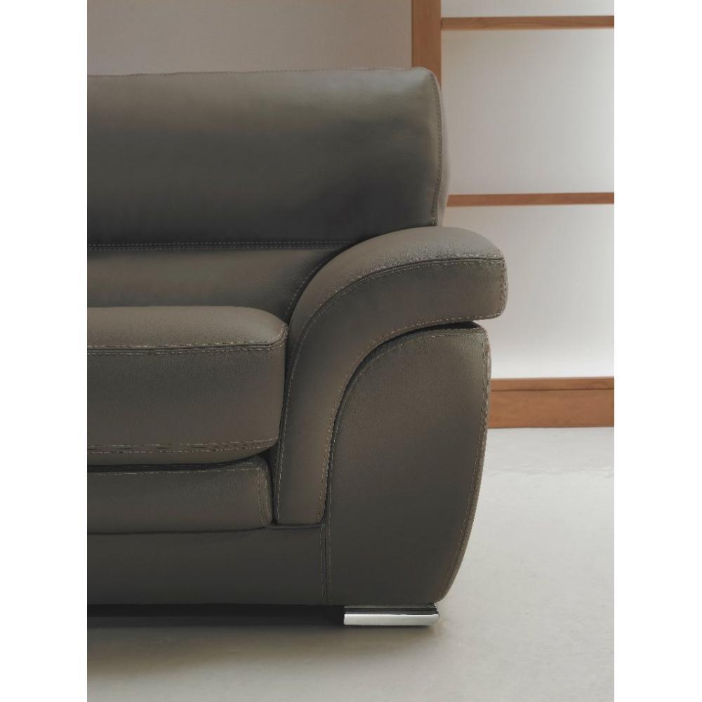 canap fixe confortable design au meilleur prix canap janet 3 places en cuir inside75. Black Bedroom Furniture Sets. Home Design Ideas