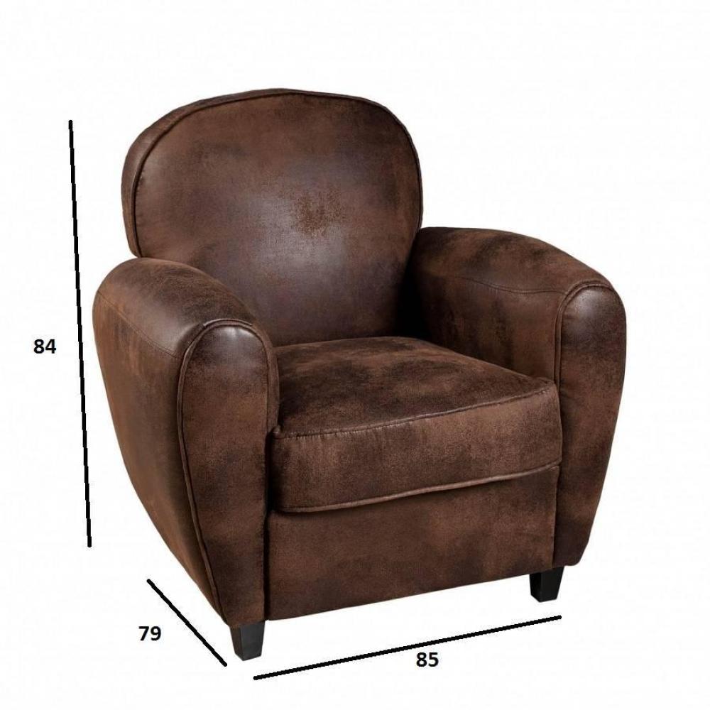 chaise design ergonomique et stylis e au meilleur prix fauteuil club kate microfibre marron. Black Bedroom Furniture Sets. Home Design Ideas