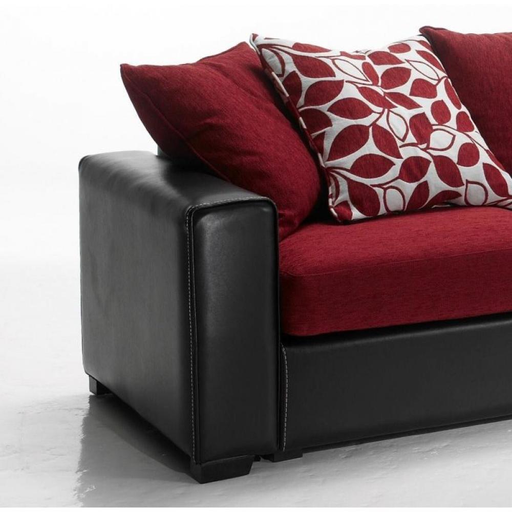 canap fixe confortable design au meilleur prix canap d 39 angle r versible kennett tweed rouge. Black Bedroom Furniture Sets. Home Design Ideas