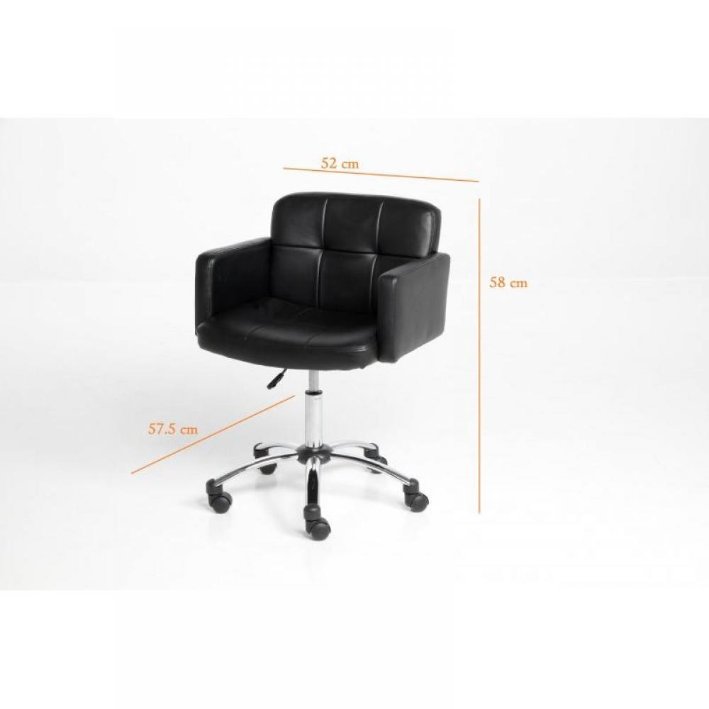 KING Fauteuil Bureau Design Noir Roulettes