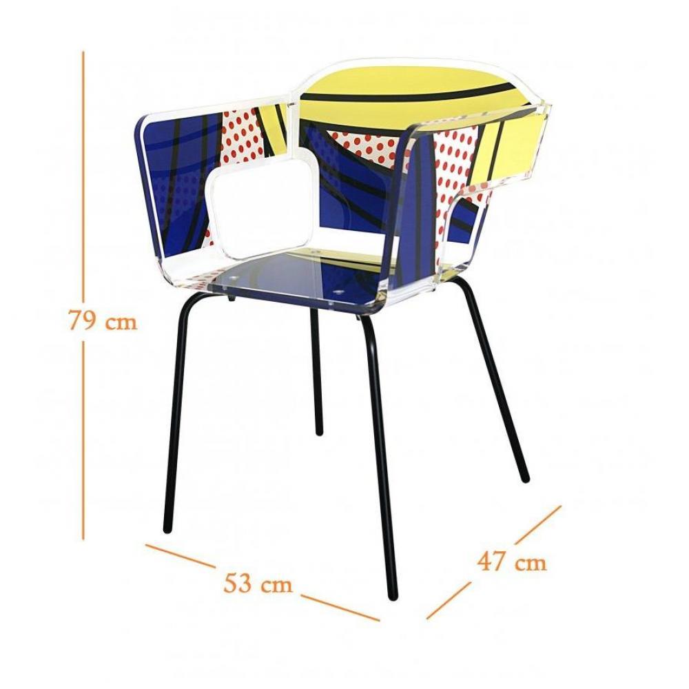 Chaises meubles et rangements alnoor komiks fauteuil for Chaise plexiglass design