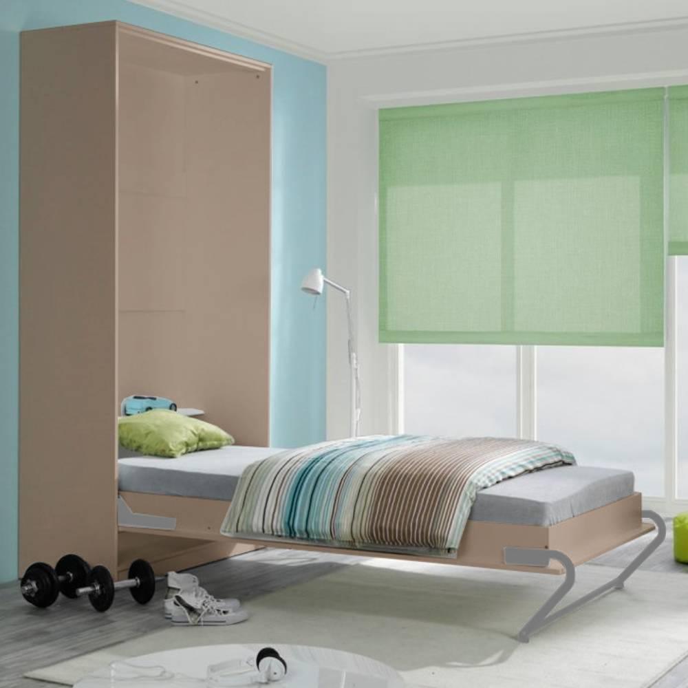 canap convertible au meilleur prix armoire lit escamotable kubic taupe couchage 140 18. Black Bedroom Furniture Sets. Home Design Ideas