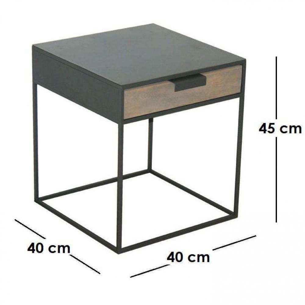Bouts de canapes tables et chaises kwadrat chevet bout for Fabricant francais de canape