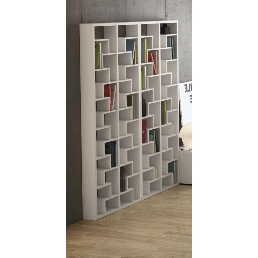 Biblioth ques tag res meubles et rangements temahome biblioth que asym tri - Bibliotheque design blanche ...