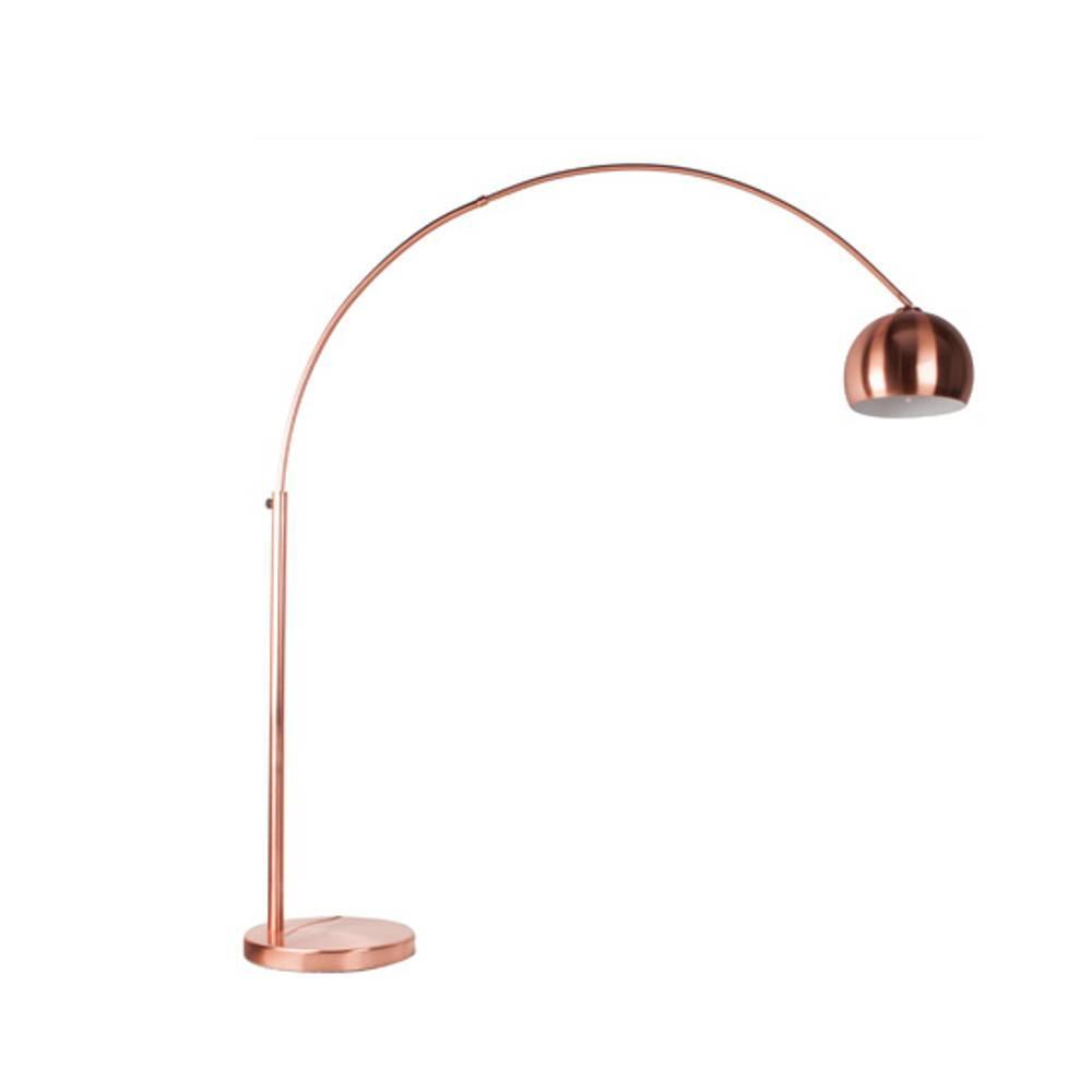 lampadaires luminaires lampadaire design en arc bow copper en m tal inside75. Black Bedroom Furniture Sets. Home Design Ideas