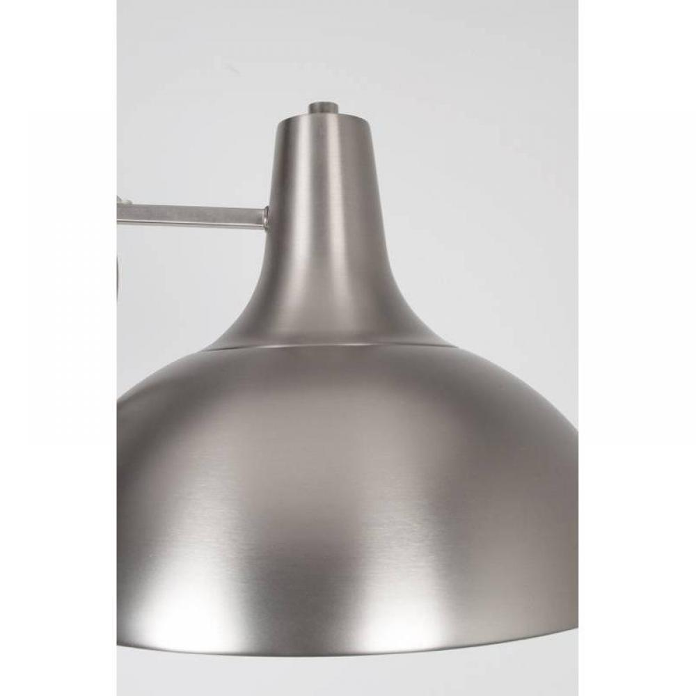 WHITE LABEL LIVING lampadaire OFFICE nikel satiné