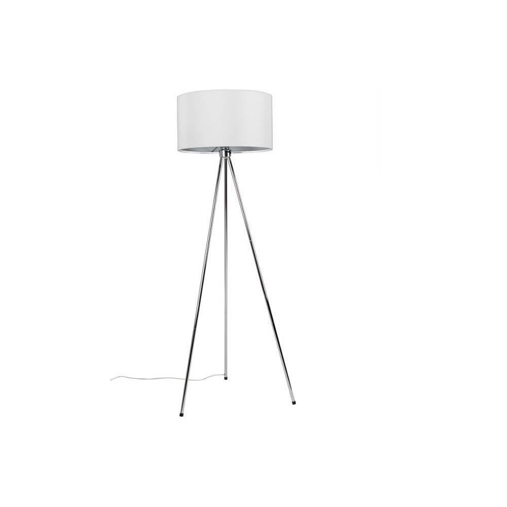 WHITE LABEL LIVING lampadaire NEW TWIST blanc piétement chromé