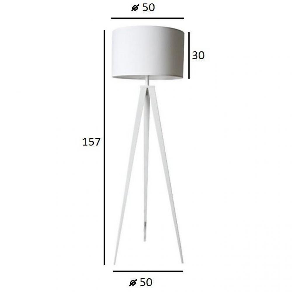 Lampadaires Luminaires Zuiver Lampadaire Tripod Blanc Inside75