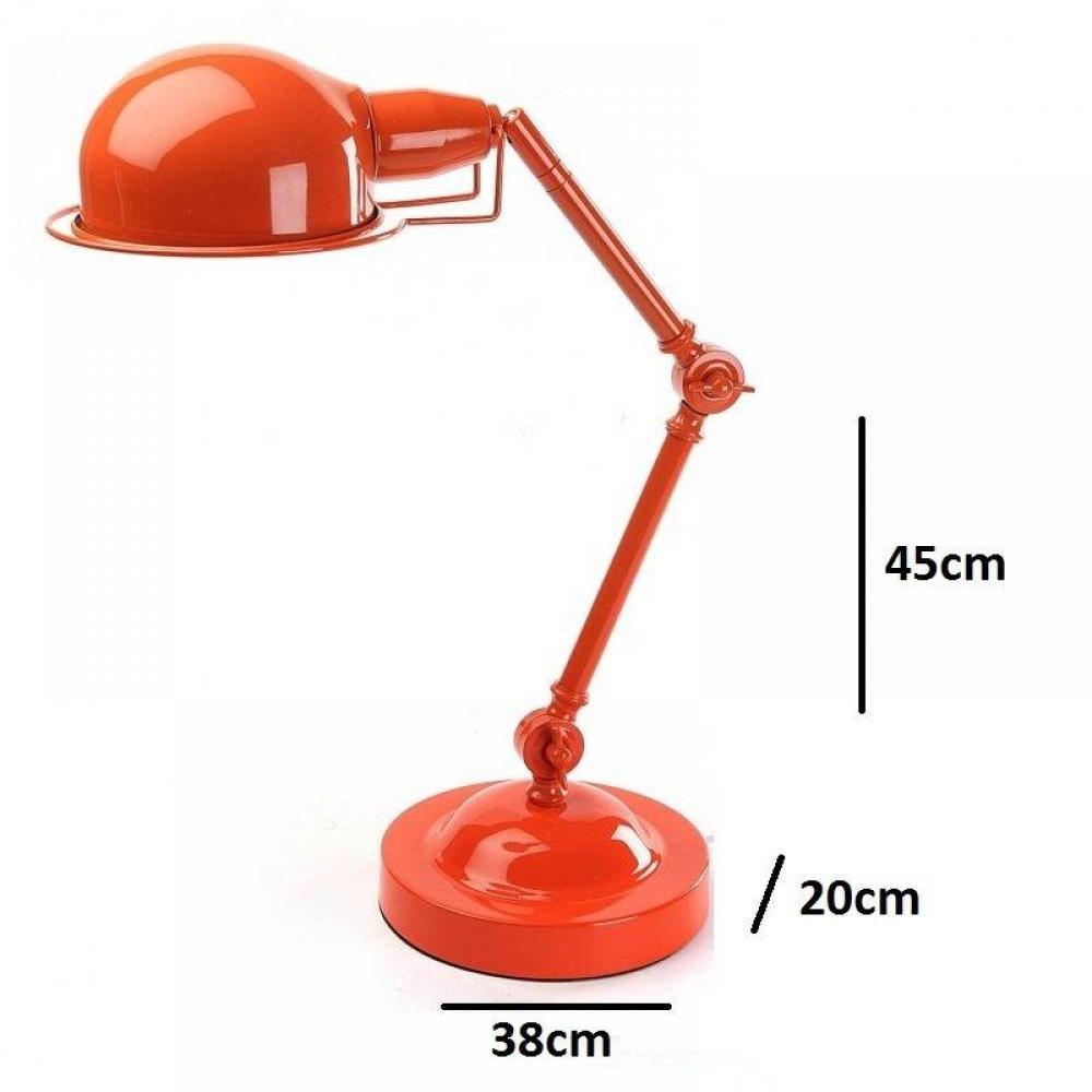 Lampe à poser DUSTRA en métal orange