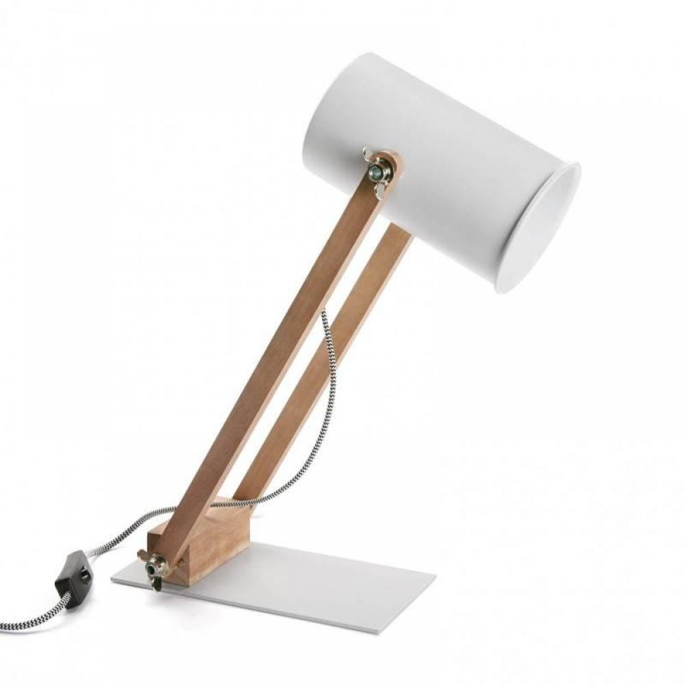 Lampe à poser FARES style scandinave blanc