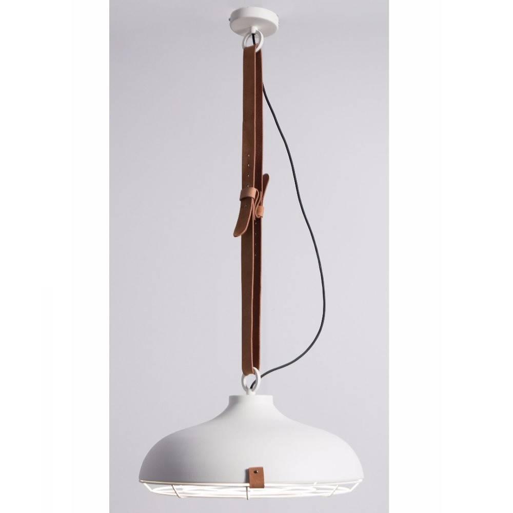 ZUIVER Lampe pendante DEK blanche  en cuir