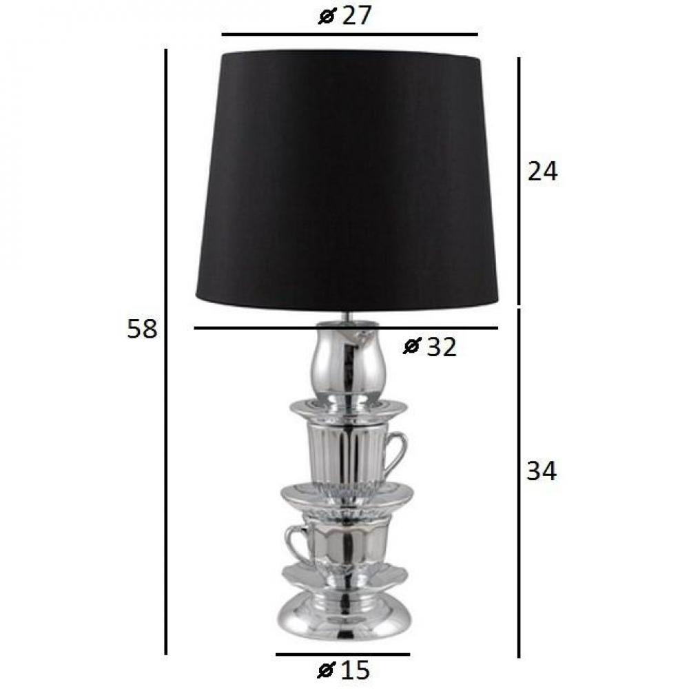 ZUIVER Lampe  CUP AND SAUCER noire.