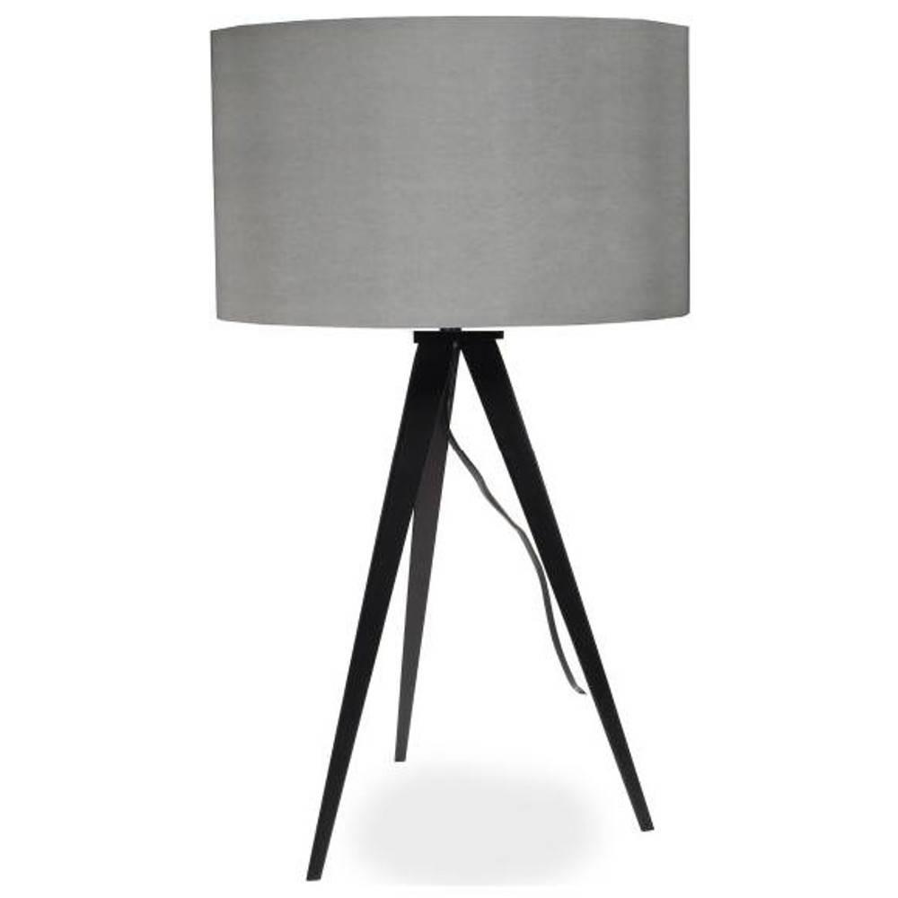 ZUIVER Lampe TRIPOD  noire et grise.