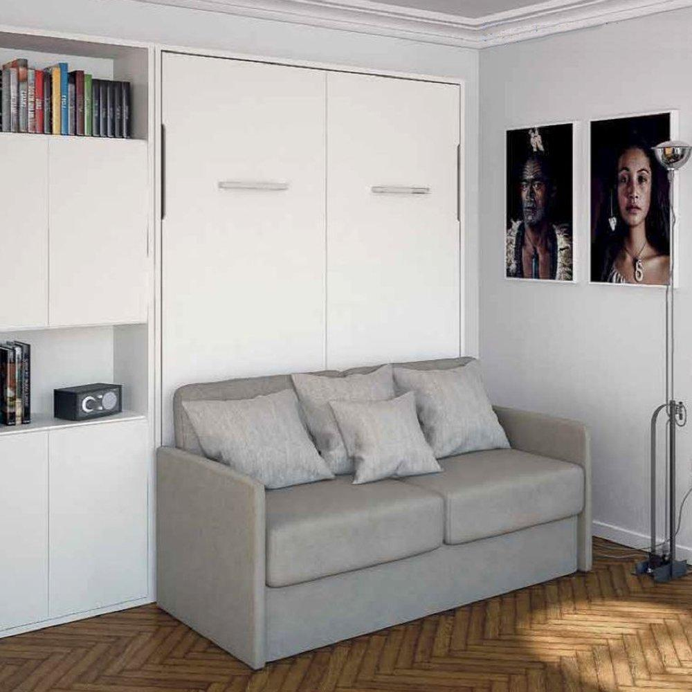 Armoire lit escamotable avec canapé intégré au meilleur prix ...