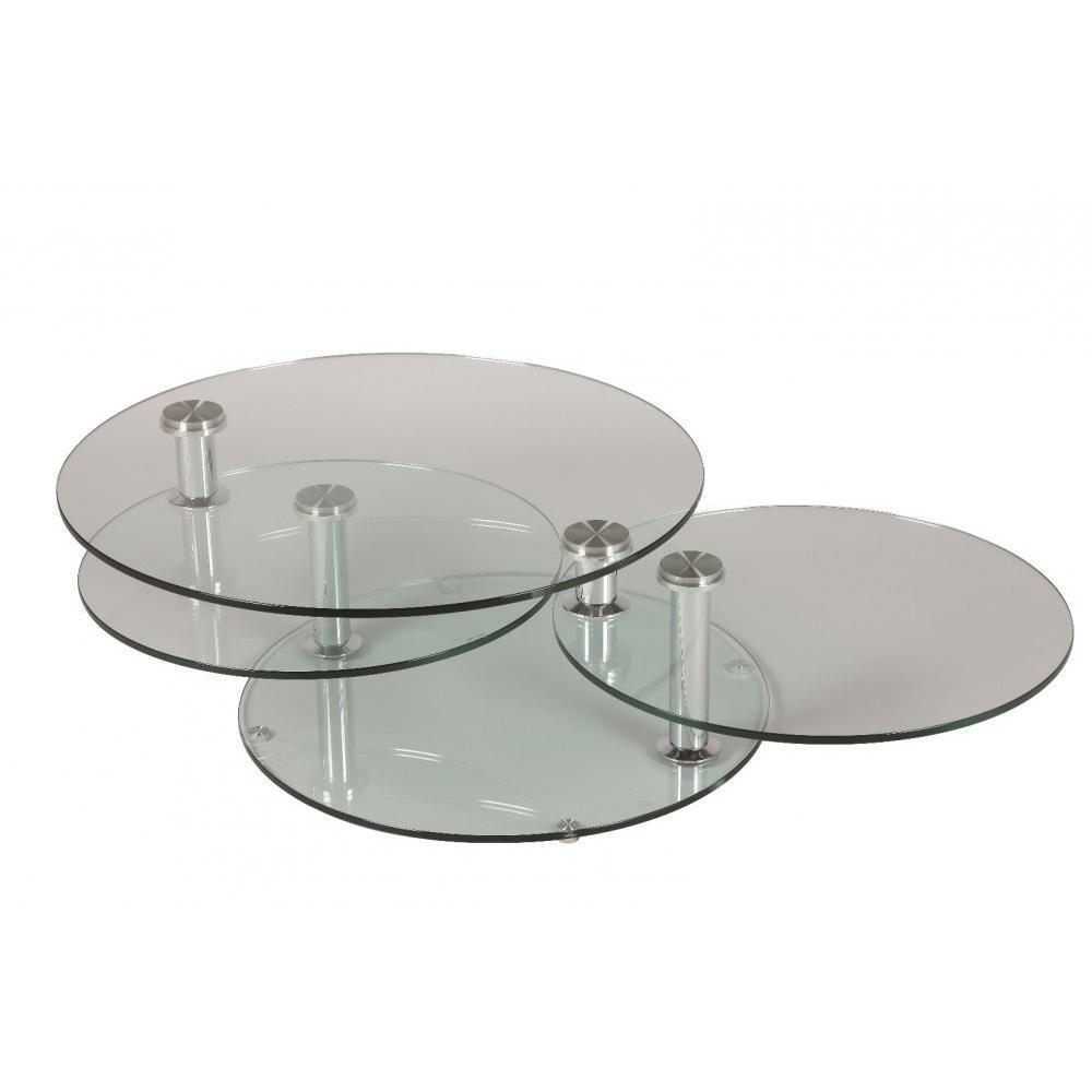 Plateaux Table Design Double Level Basse Ronde QrdxoCBWEe
