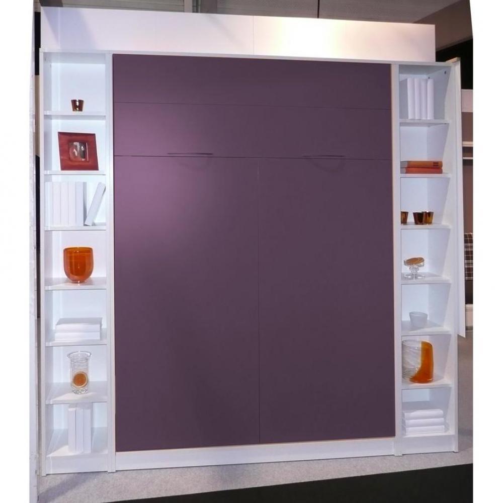 armoire lit escamotable verticale au meilleur prix lit mural librairie jacquelin profondeur 26. Black Bedroom Furniture Sets. Home Design Ideas