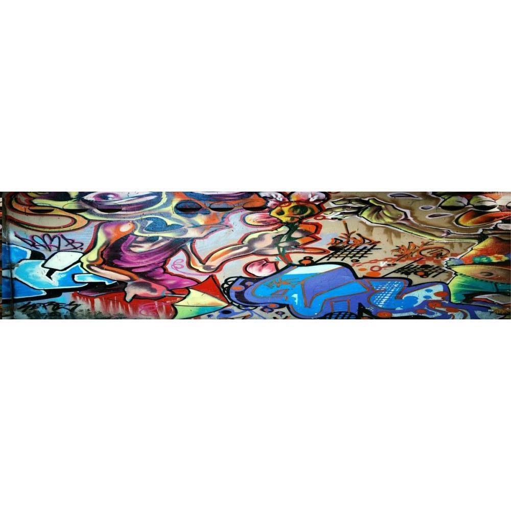 Lit EAGLE BED avec tête de lit imprimée graffiti