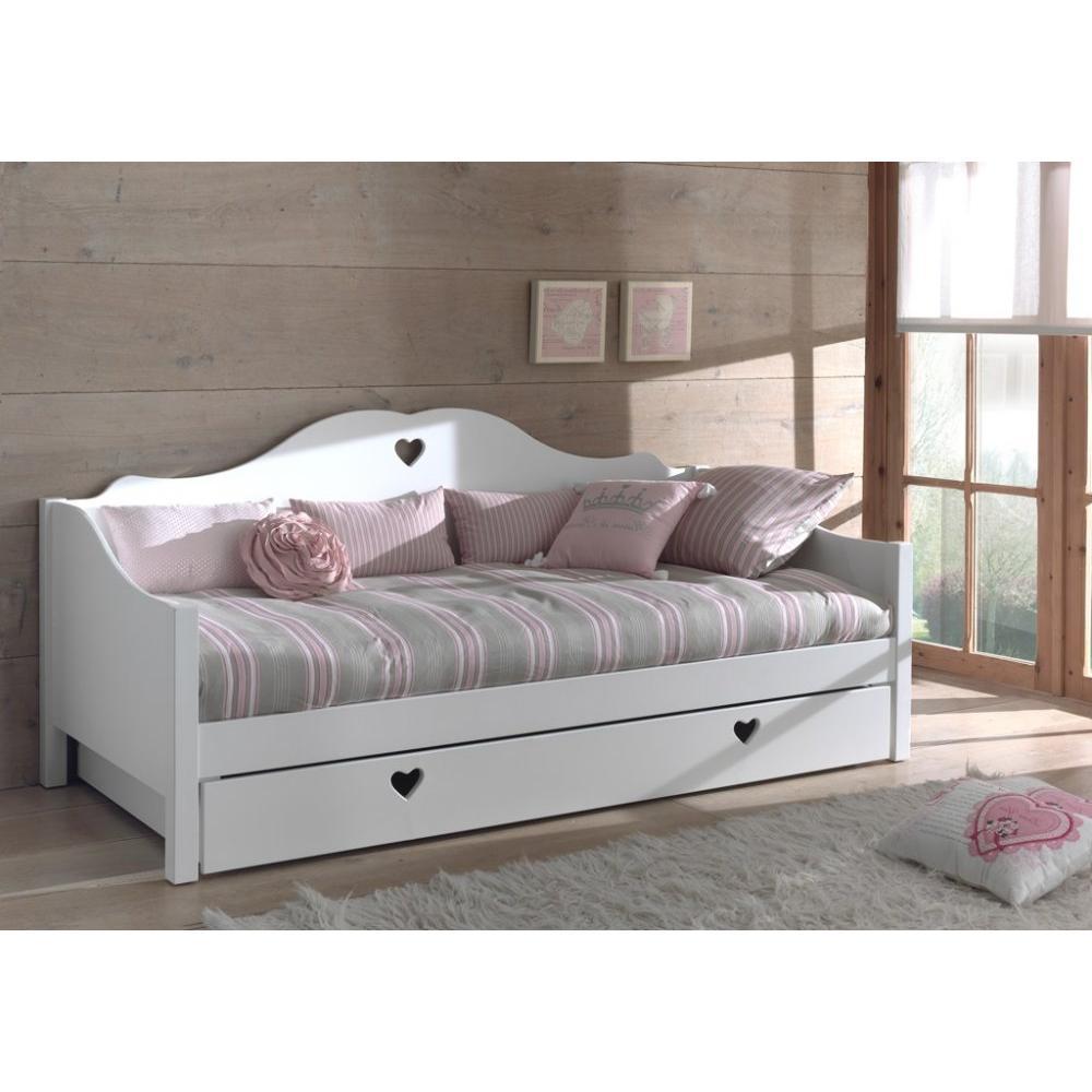 lits gigognes chambre literie lit gigogne capitain amori design laqu blanc inside75. Black Bedroom Furniture Sets. Home Design Ideas