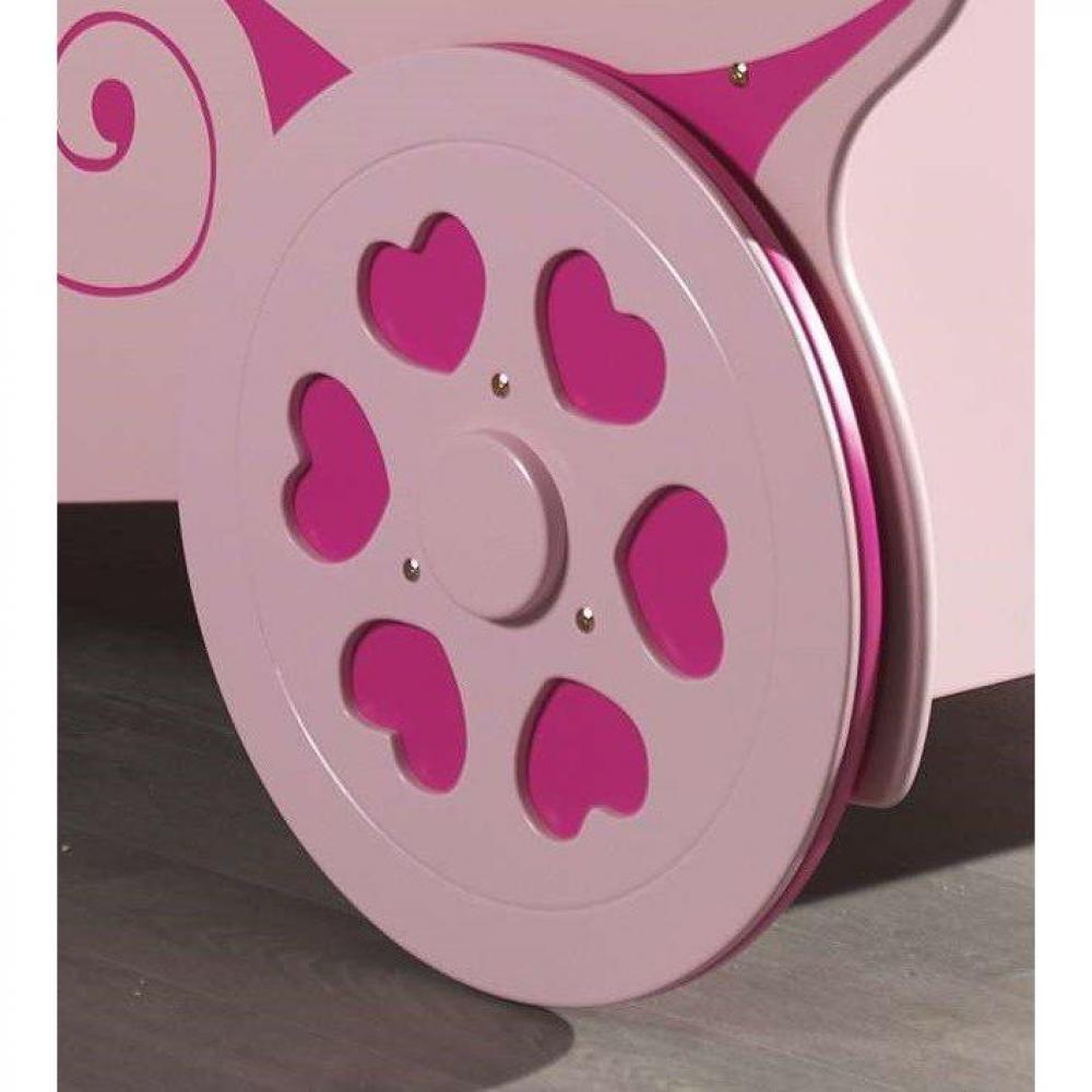 lits enfant chambre literie lit carrosse berline rose design princess inside75. Black Bedroom Furniture Sets. Home Design Ideas