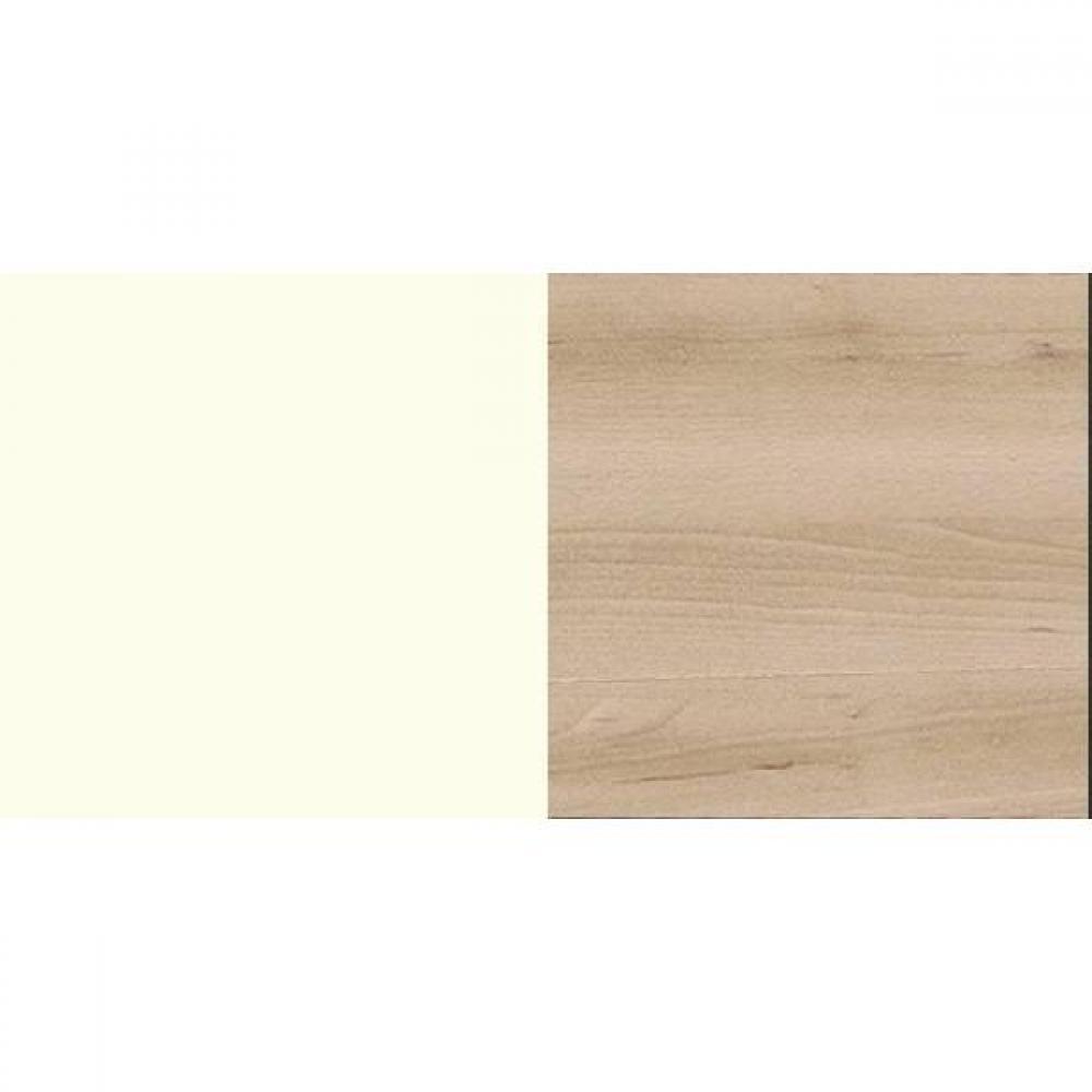 Lit THALIA 140*200cm avec 2 chevets blanc/hêtre