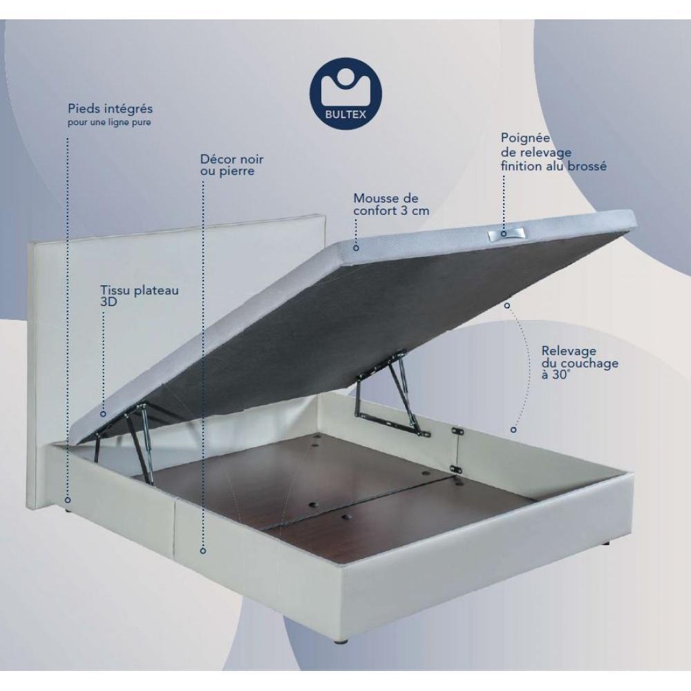 lits coffres chambre literie bultex sommier coffre. Black Bedroom Furniture Sets. Home Design Ideas