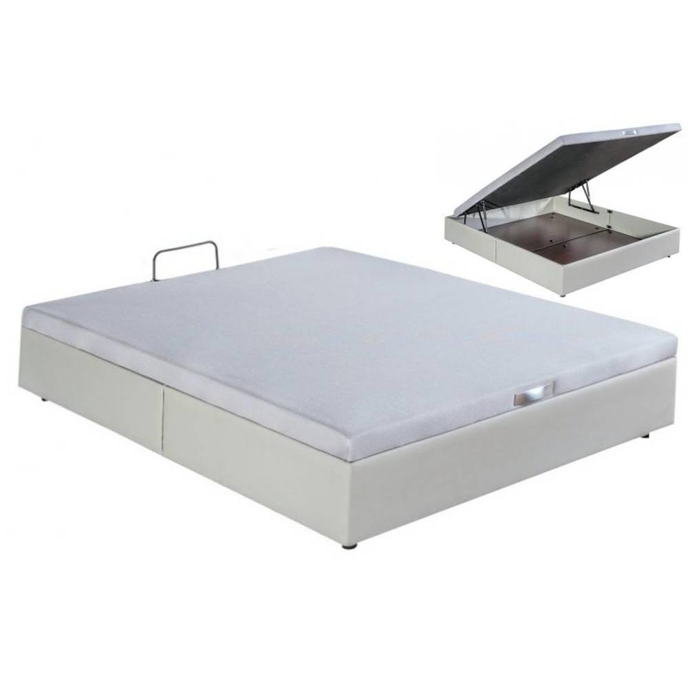 lits chambre literie bultex sommier coffre double quartz en tissu enduit polyur thane simili. Black Bedroom Furniture Sets. Home Design Ideas