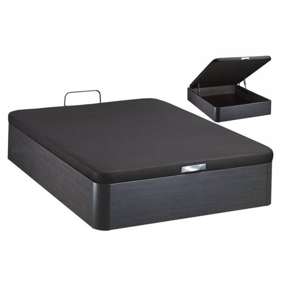 lits chambre literie bultex sommier coffre galaxie noir c ruse 140 190cm inside75. Black Bedroom Furniture Sets. Home Design Ideas