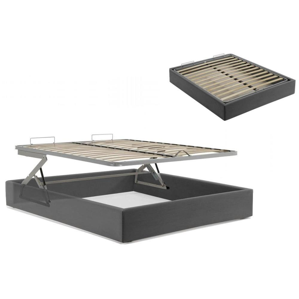 lits coffres chambre literie lit coffre lift 90 190 recouvert de rev tement polyur thane. Black Bedroom Furniture Sets. Home Design Ideas