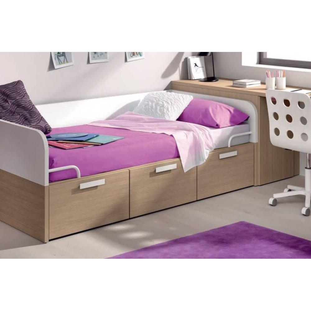 lits tiroirs rangement chambre literie lit compact carillon avec 3 tiroirs couchage 90 x 190. Black Bedroom Furniture Sets. Home Design Ideas