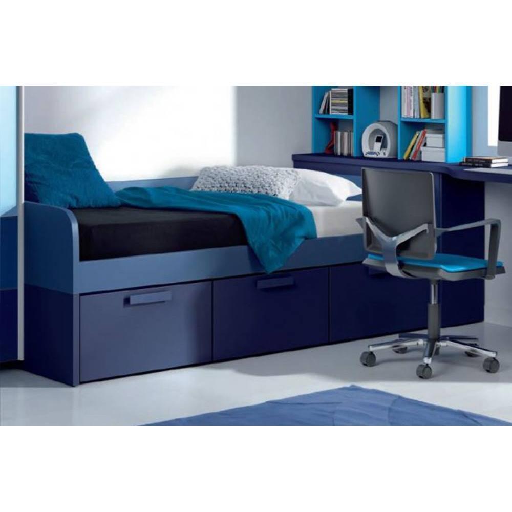 lits chambre literie lit compact willo avec 3 tiroirs On lit compact