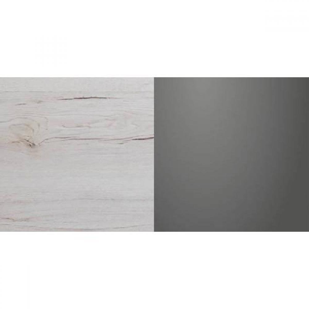 Lit DENVER 180*200cm chêne blanc avec éclairages LED