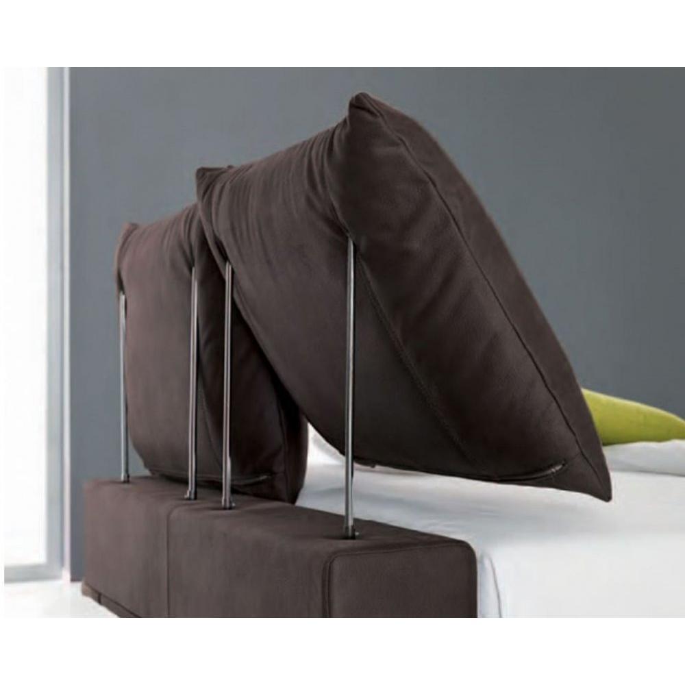 lits chambre literie lit haut de gamme biarritz avec t te de lit coussins couchage 160 190cm. Black Bedroom Furniture Sets. Home Design Ideas
