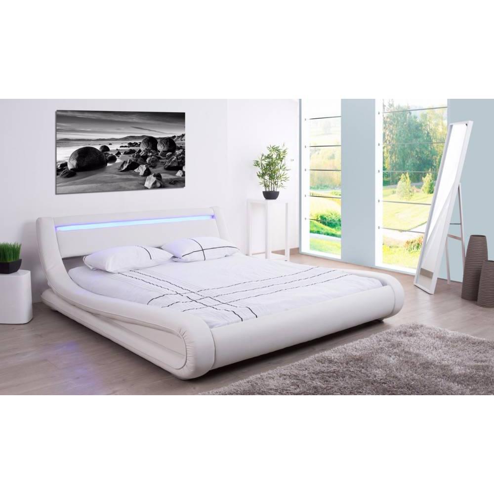 lits chambre literie lit design electra tissu enduit. Black Bedroom Furniture Sets. Home Design Ideas