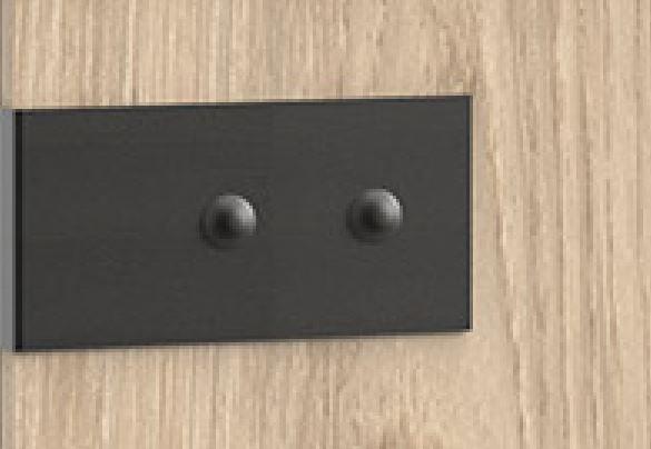 Lit style industriel VERNON 160 x 200 cm pin argenté vieilli et graphite