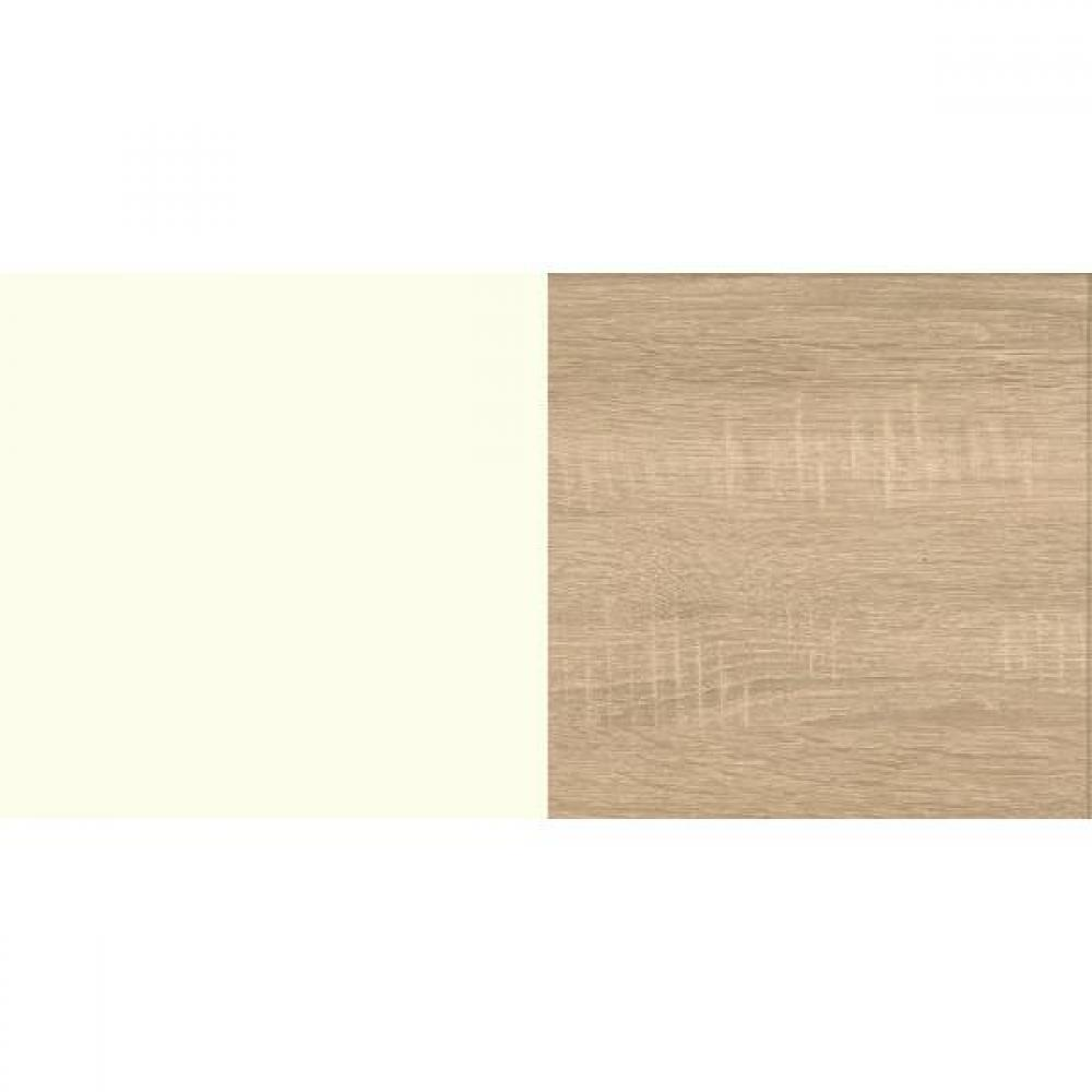 Lit enfant ALBORG 90*200 cm style scandinave blanc rechampis décor chêne