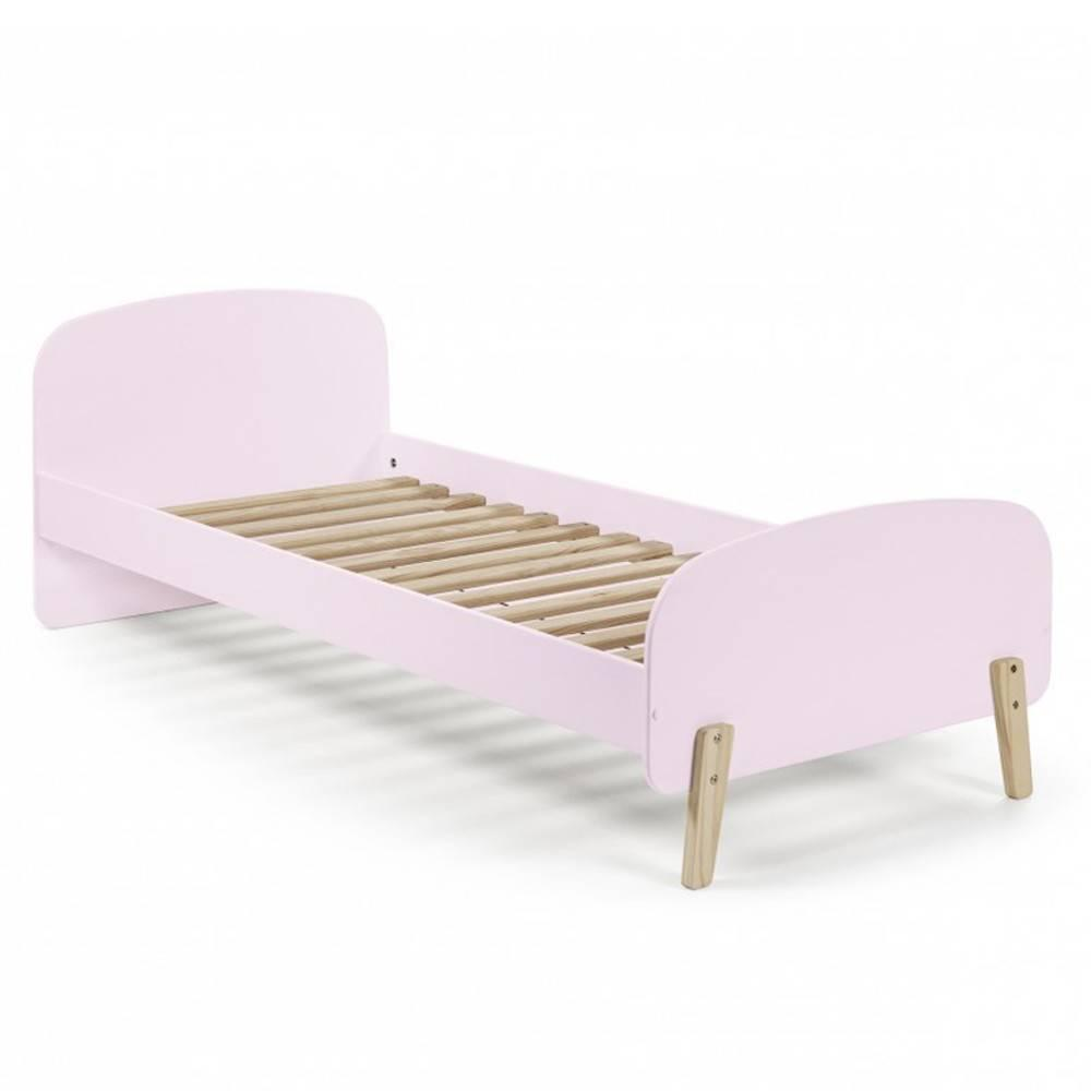 lits enfant chambre literie lit infini rose pastel style scandinave couchage 90 x 200cm. Black Bedroom Furniture Sets. Home Design Ideas