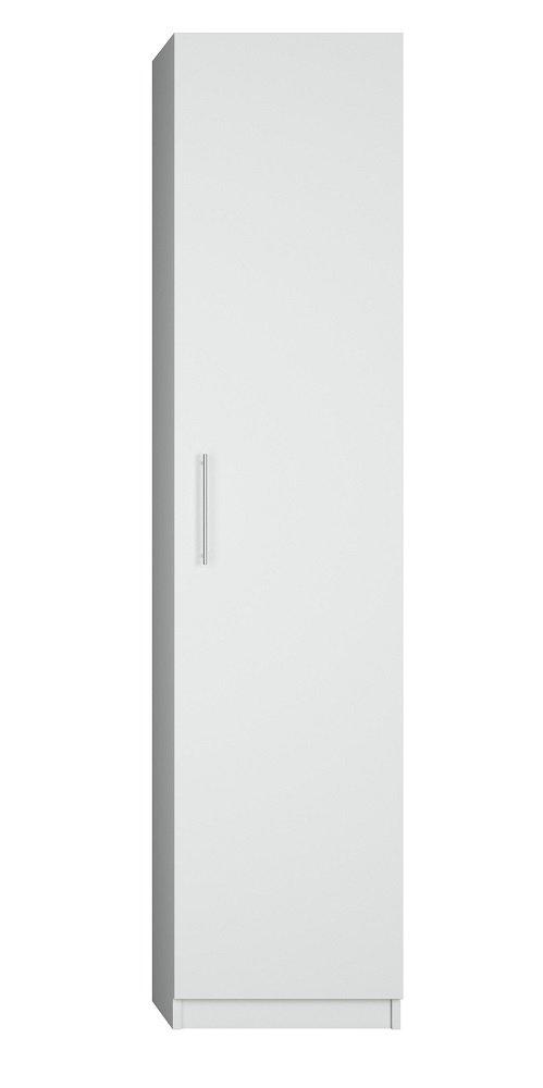 Composition lit escamotable blanc mat DYNAMO SOFA canapé accoudoirs blanc mat et gris colonne armoire + bibliothèque 140*200