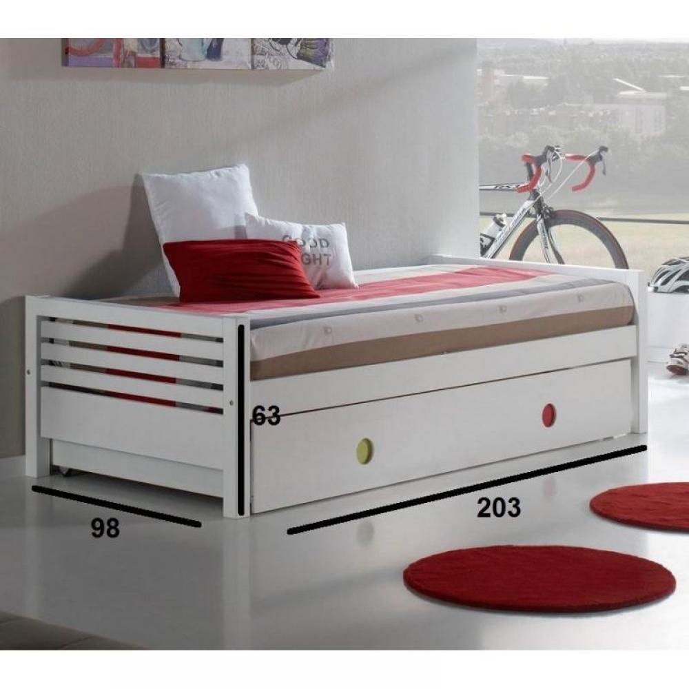 lits gigognes chambre literie lit gigogne carlin blanc avec poign es couleurs couchage 190. Black Bedroom Furniture Sets. Home Design Ideas