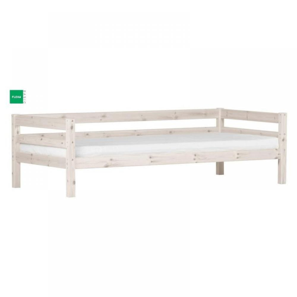 lits gigognes chambre literie lit gigogne flexa en pin vernis blanchi couchage 90 x 200. Black Bedroom Furniture Sets. Home Design Ideas