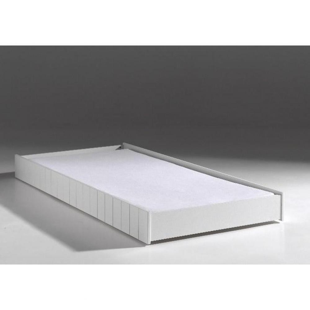 lits gigognes chambre literie lit gigogne hydrus design blanc inside75. Black Bedroom Furniture Sets. Home Design Ideas