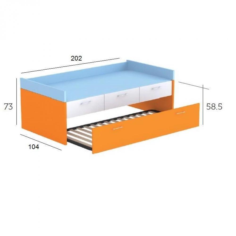 lits chambre literie lit gigogne lena avec 3 tiroirs et 2 couchages 90 x 190 inside75. Black Bedroom Furniture Sets. Home Design Ideas