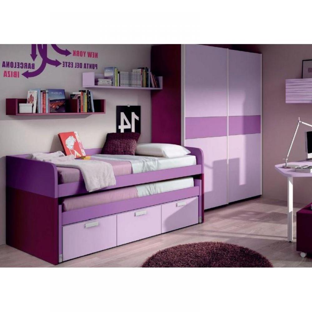 lits chambre literie lit gigogne mister avec module 3 tiroirs couchage 90 x 190 inside75. Black Bedroom Furniture Sets. Home Design Ideas
