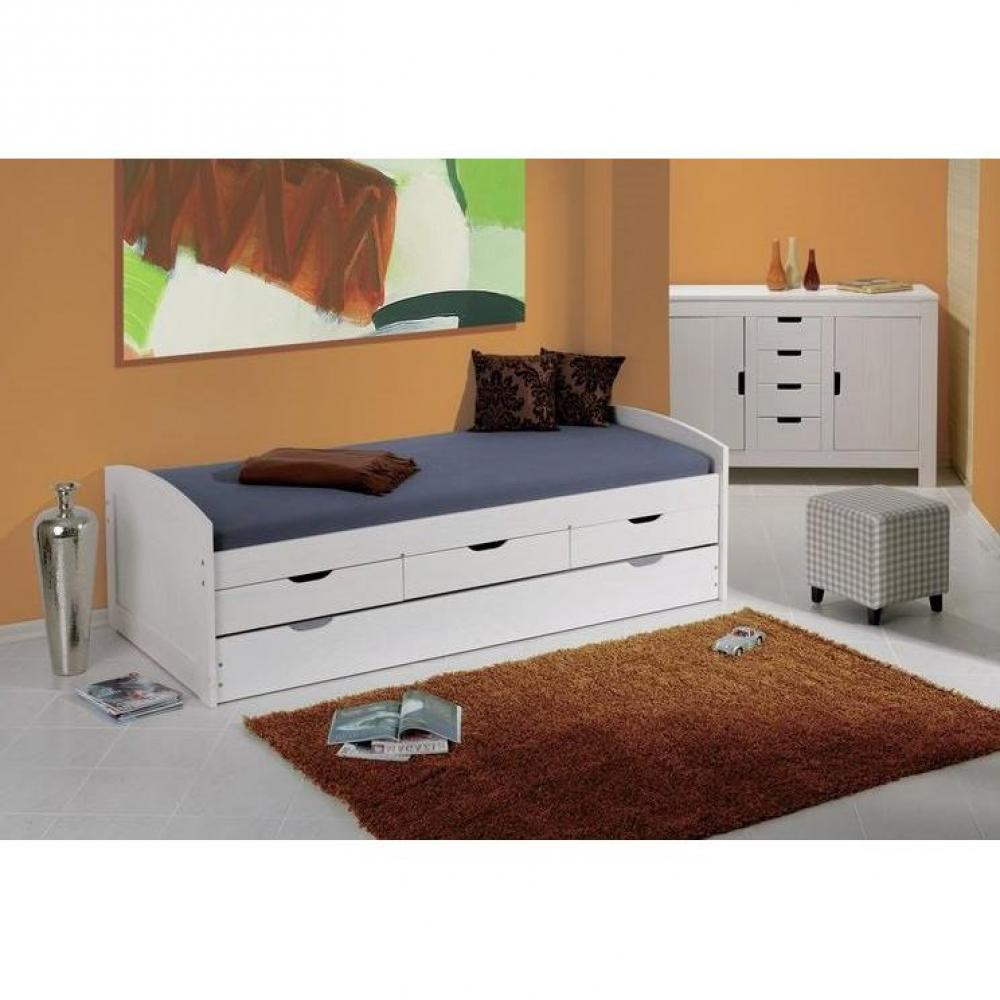 lits chambre literie lit gigogne ulli en pin massif. Black Bedroom Furniture Sets. Home Design Ideas