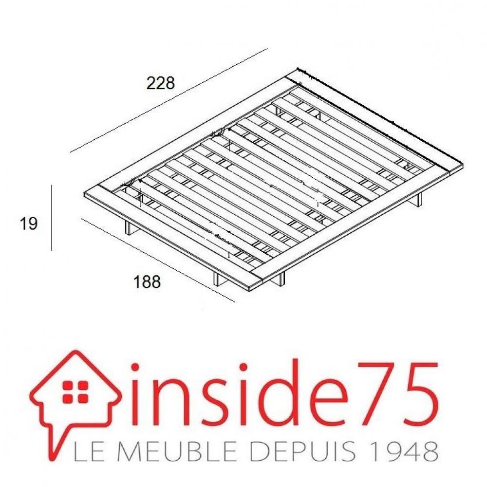 Cadre de lit japonais JAPAN noir 160*200cm avec sommier