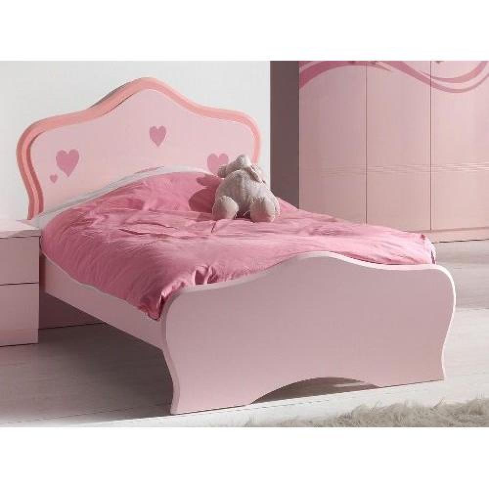 Lits enfant chambre literie lit princesse lizzy design laqu rose i - Lit princesse belgique ...